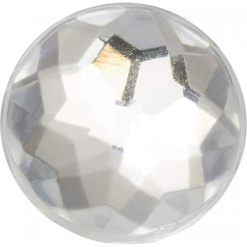 JIBBITZ Sparkly Silver Circle