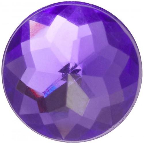 JIBBITZ Sparkly Purple Circle