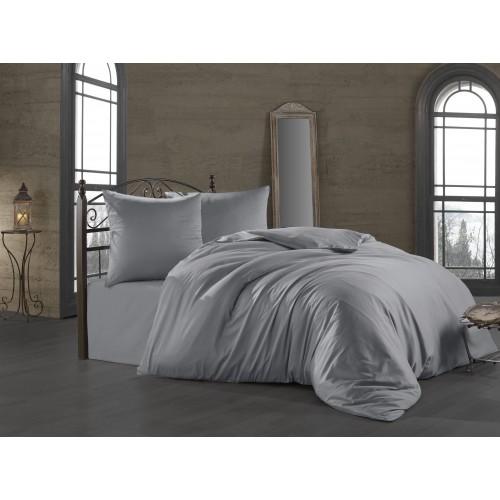 Puuvillasatiin voodipesukomplekt Silver 200x200 cm