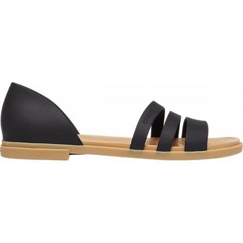 Crocs™ Women's Tulum Open Flat  Sandal Blk/Tan