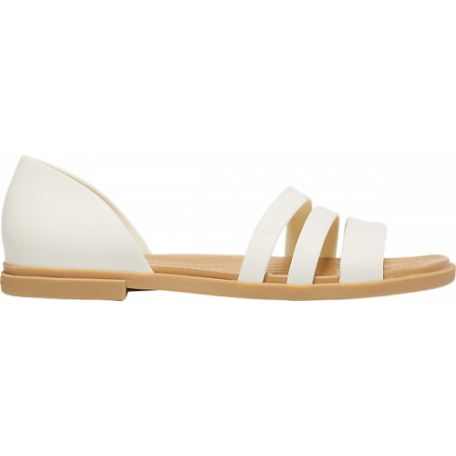 Crocs™ Women's Tulum Open Flat  Sandal Oys/Tan