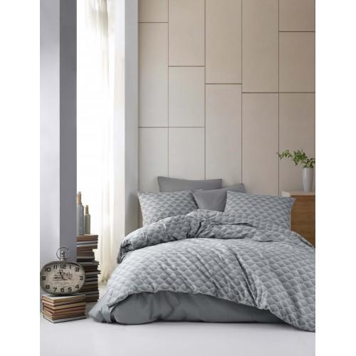Puuvillane voodipesukomplekt Clara Grey 200x220 cm