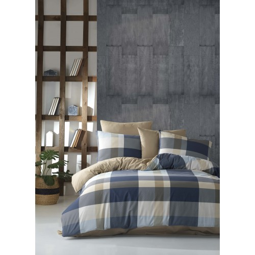 Puuvillane voodipesukomplekt Caro Blue 200x200 cm