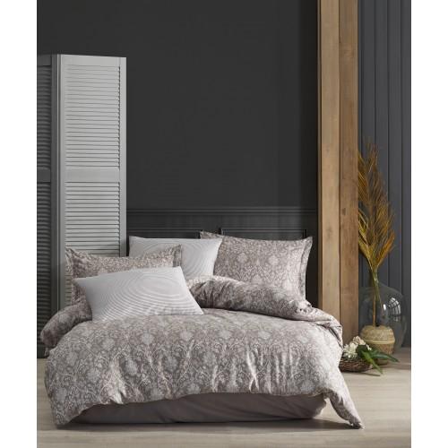 Puuvillasatiin voodipesukomplekt Elegance Brown 200x200 cm